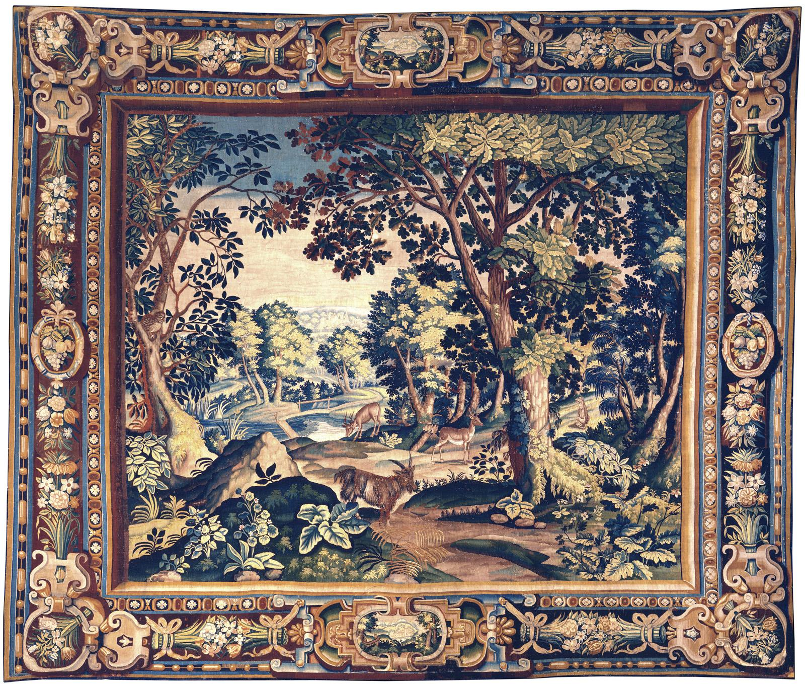 Landscape Tapestry with Goat