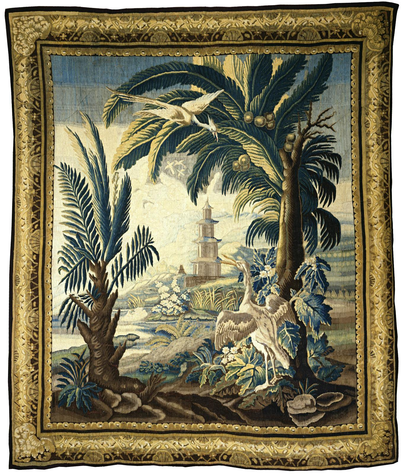 Chinoiserie Landscape Tapestry