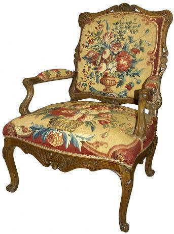 Set of Four Tapestry Chair Seats and Chair Backs
