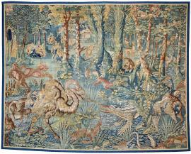 Game Park Tapestry Panel with Exotic Animals