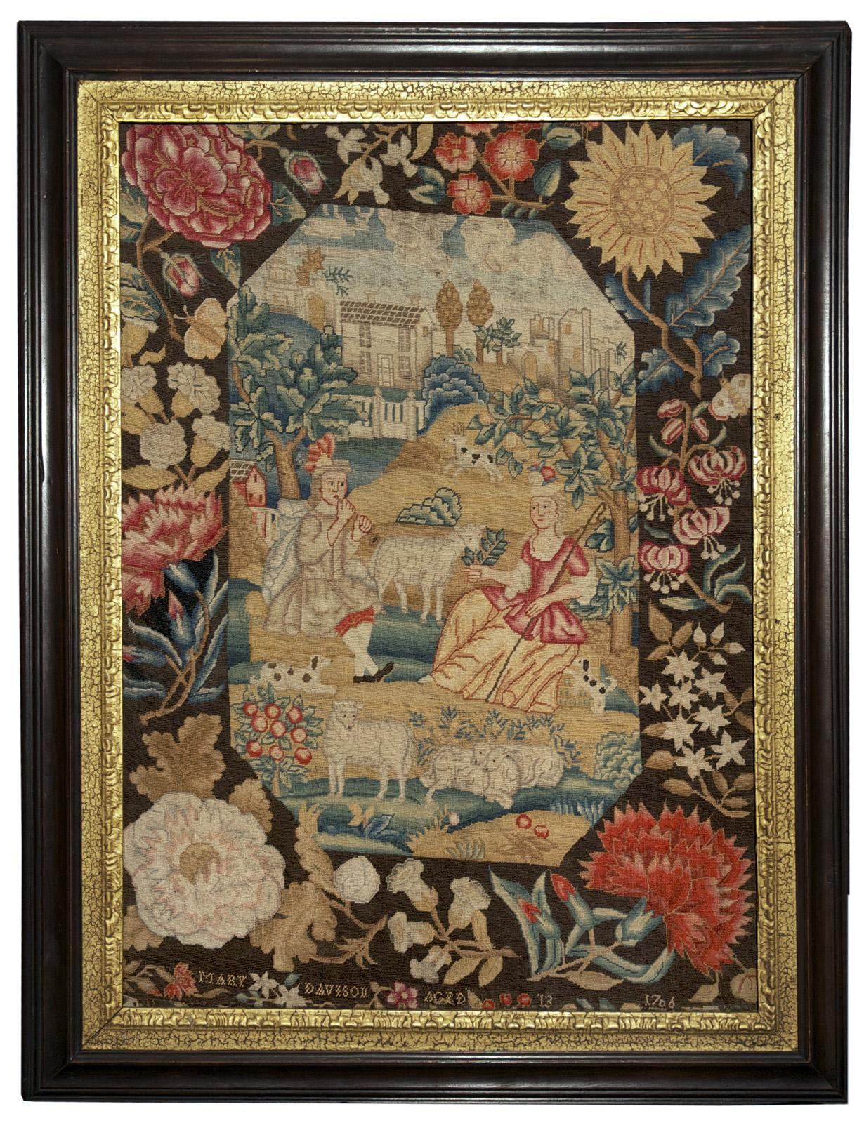 Signed and Dated Queen Anne Needlework